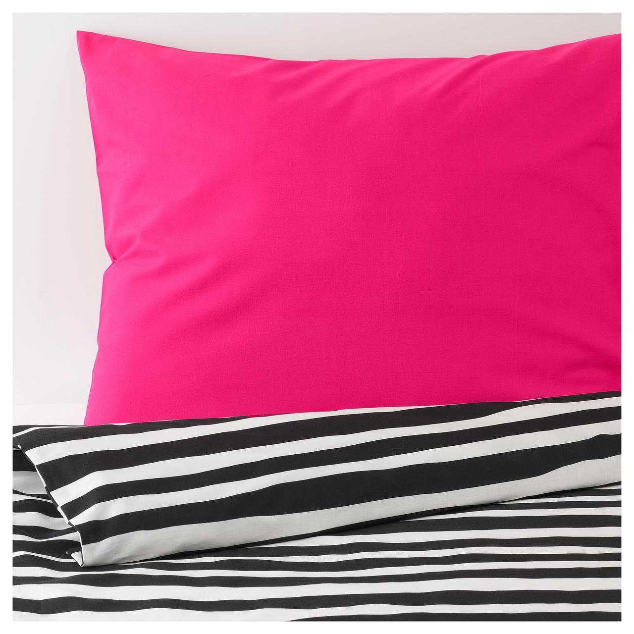 IKEA URSKOG (603.938.82) Комплект постельного белья, зебры, полосатый