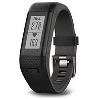 Фитнес-браслет GARMIN Vivosmart HR GPS  черный XL