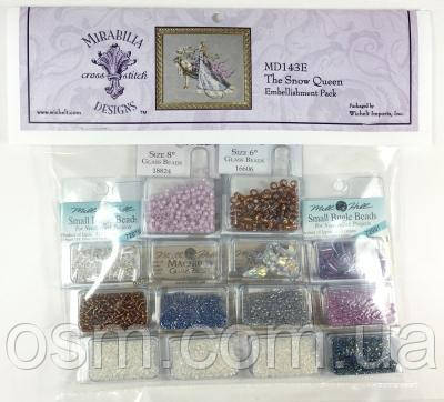 Бисер к схеме The Snow Queen Mirabilia Designs Mill Hill Embellishment Pack MD143E
