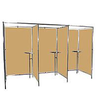 Кабина тройная для тайного голосования со стенками и столиком