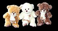Медведь 50 см в шарфе плюшевая мягкая игрушка мишка на подарок