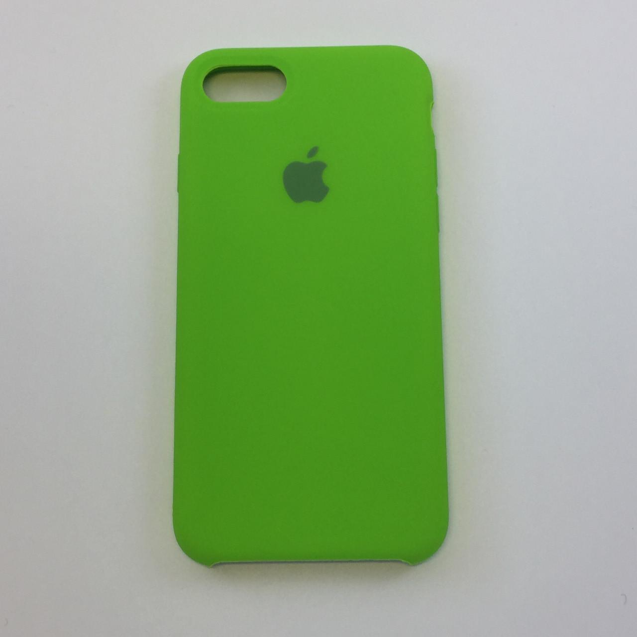 Силиконовый чехол для iPhone 7 Plus, - «лайм» - copy original
