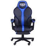 Кресло VR Racer Edge Titan черный/синий, Бесплатная доставка, фото 3