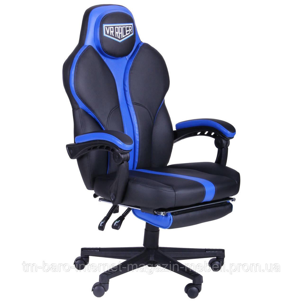 Кресло VR Racer Edge Titan черный/синий, Бесплатная доставка