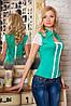 Нарядная женская стильная блуза с кружевом.