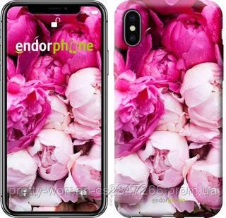 """Чехол на iPhone XS Розовые пионы """"2747c-1583-19414"""""""