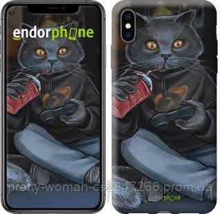 """Чехол на iPhone XS Max gamer cat """"4140c-1557-19414"""""""