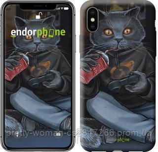 """Чехол на iPhone X gamer cat """"4140c-1050-19414"""""""
