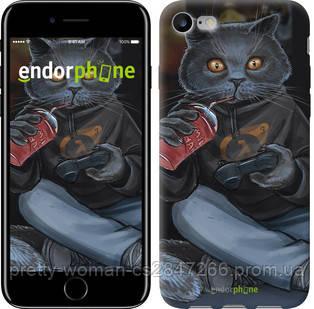 """Чехол на iPhone 7 gamer cat """"4140c-336-19414"""""""