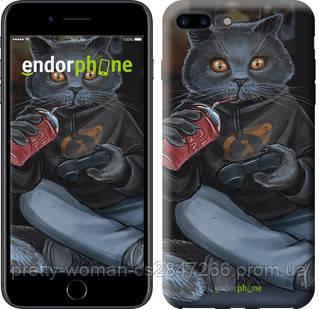 """Чехол на iPhone 7 Plus gamer cat """"4140c-337-19414"""""""
