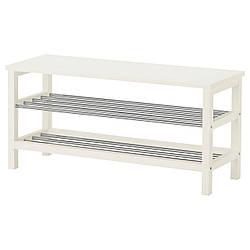 IKEA TJUSIG (701.527.02) Лава с местом для обуви, белый