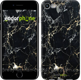 "Чехол на iPhone 8 Черный мрамор ""3846c-1031-19414"""