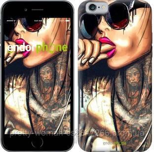 "Чехол на iPhone 6 Девушка в тату ""4001c-45-19414"""