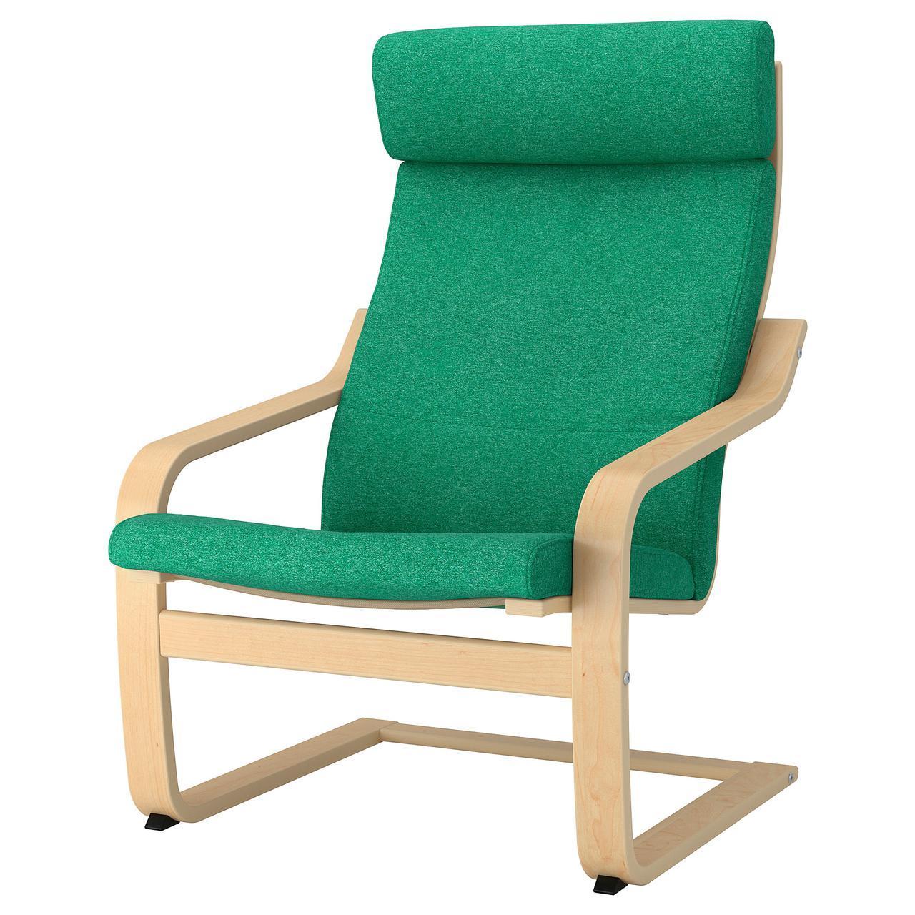 IKEA POANG (892.416.28) Кресло, ok birches, светлые поцелуи
