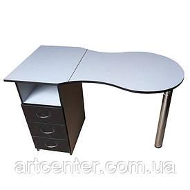 Маникюрный стол  стандарт с выдвижными ящиками
