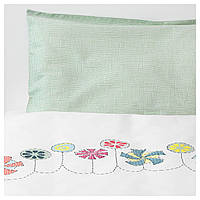 IKEA BUSSIG (903.654.39) Комплект постельного белья для ребенка, разноцветный, зеленый
