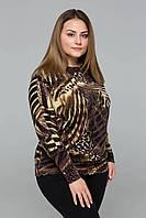 Джемпер из ангоры с леопардовым принтом КЕТТИ  в 5ти цветах, фото 1