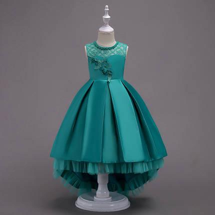 ab4074f6ad0fbc7 Красивое нарядное платье со шлейфом для девочки бирюзовое: продажа ...
