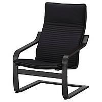 IKEA POANG (592.408.28) Кресло, черный бриз, Lysed ярко-зеленый