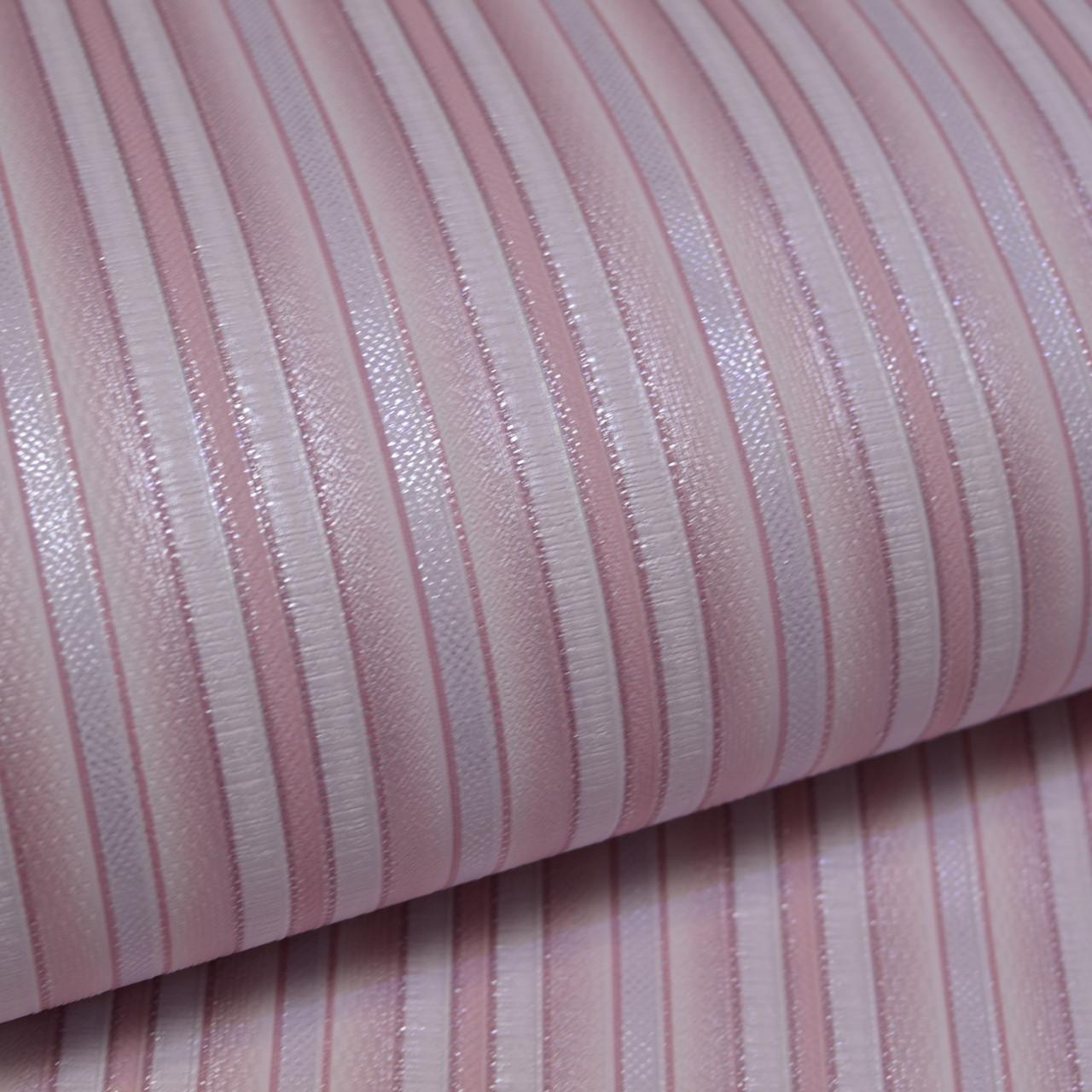 Обои, обои на стену, дуплекс, розовая полоска, B64,4 Фиеста 2 6547-06, 0,53*10м