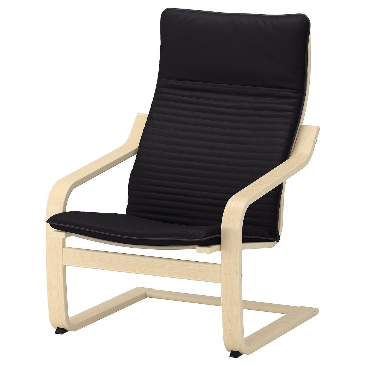 IKEA POANG (692.408.23) Кресло, ok birches, светлые поцелуи