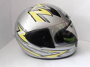 Шлем HF-101/501 KUROSAWA-MT Сірий (Розмір: S), фото 3