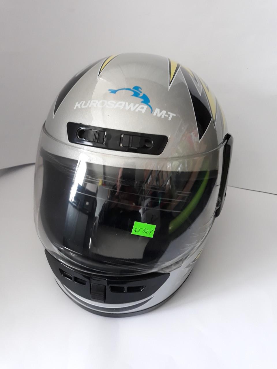 Шлем HF-101/501 KUROSAWA-MT Сірий (Розмір: S)