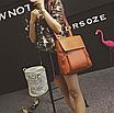 Рюкзак трансформер женский кожзам сумка Cool Коричневый, фото 3