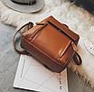Рюкзак трансформер женский кожзам сумка Cool Коричневый, фото 6