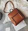 Рюкзак трансформер женский кожзам сумка Cool Коричневый, фото 4