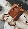 Рюкзак трансформер женский кожзам сумка Cool Коричневый, фото 7