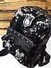 Женский рюкзак  с паетками перевертышами черного цвета, один отдел, дополнительный карман, регулируемые лямки, фото 2