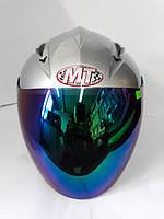 Шлем HF-210/613 СЕРЫЙ (открытый/тонированое стекло ) MotoTech, фото 1