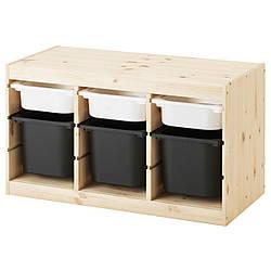 IKEA TROFAST (891.026.32) Шкаф с контейнерами й, белый