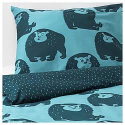 IKEA DJUNGELSKOG (303.937.08) Набор льняных, обезьян, синих