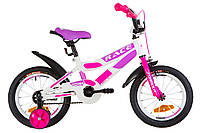 """Детский велосипед Formula Race 14"""" бело-розовый"""