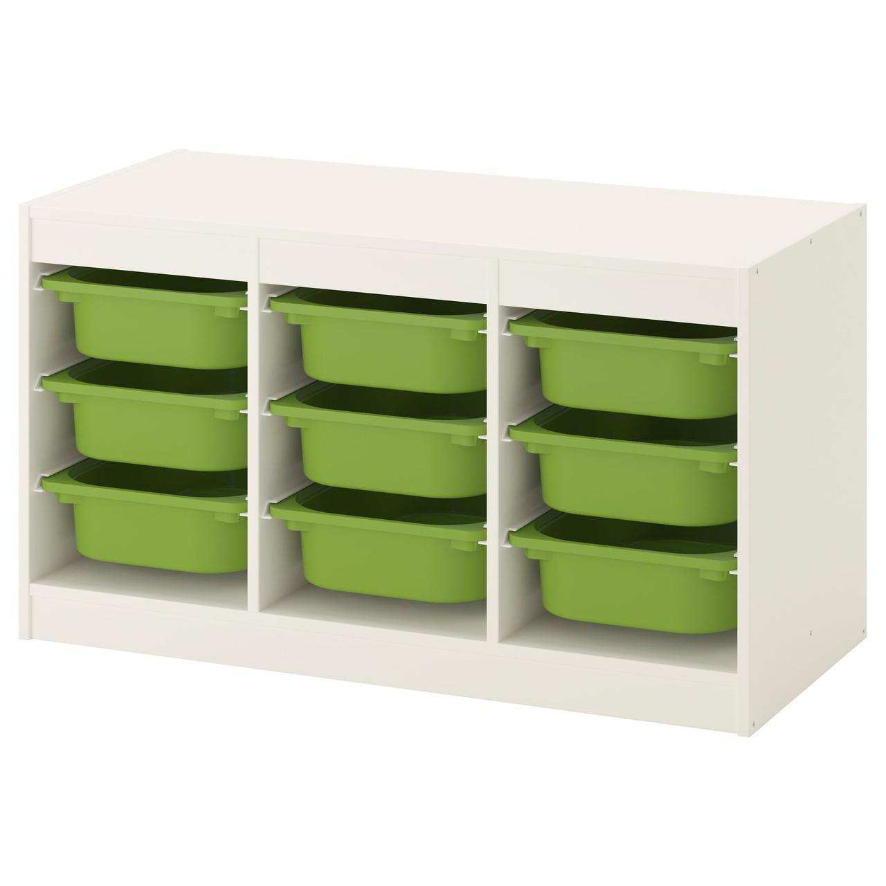 IKEA TROFAST (692.284.68) Шкаф с контейнерами, белый, желтый