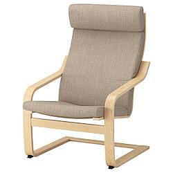IKEA POANG (491.977.50) Кресло, ok birches, светлые поцелуи