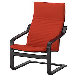 IKEA POANG (792.408.51) Кресло, черный бриз, Lysed ярко-зеленый