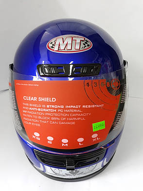 Шлем WLT-106 Синый (Розмір: S) MotoTech, фото 2