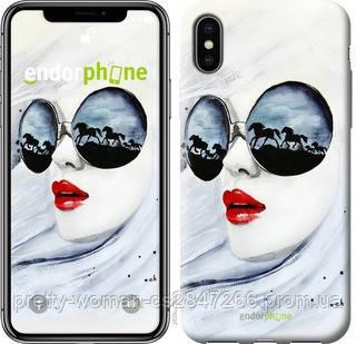 """Чехол на iPhone X Девушка акварелью """"2829c-1050-19414"""""""