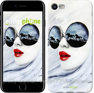 "Чехол на iPhone 8 Девушка акварелью ""2829c-1031-19414"""