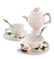 """Фарфоровый Чайный набор """"Роза"""" на 2 персоны (Pavone)"""