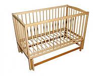 ТМ Дубок дитяче ліжечко на маятнику (натуральний)