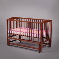 ТМ Дубок дитяче ліжечко на маятнику (горіх, тік)
