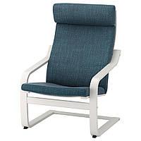 IKEA POANG (491.978.25) Кресло, белый, лиловый серый