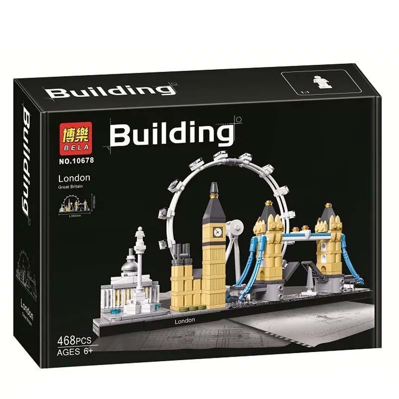"""Конструктор Bela 10678 """"Лондон"""" 468 деталей. Аналог Lego Architecture 21034"""