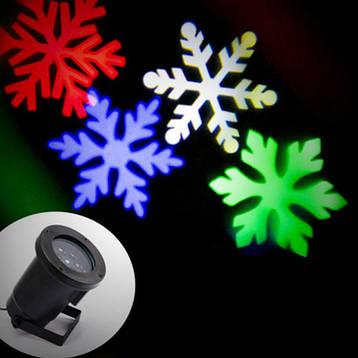 Лазерний проектор STAR SHOWER Сніжинки, фото 2