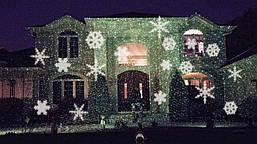 Лазерный проектор STAR SHOWER снежинки LED, фото 3