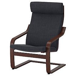 IKEA POANG (091.977.85) Кресло, коричневый, Knisa красный/оранжевый оранжевый